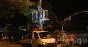 Tower Single Pole JL Ki Ageng Gribig akhirya dibongkar